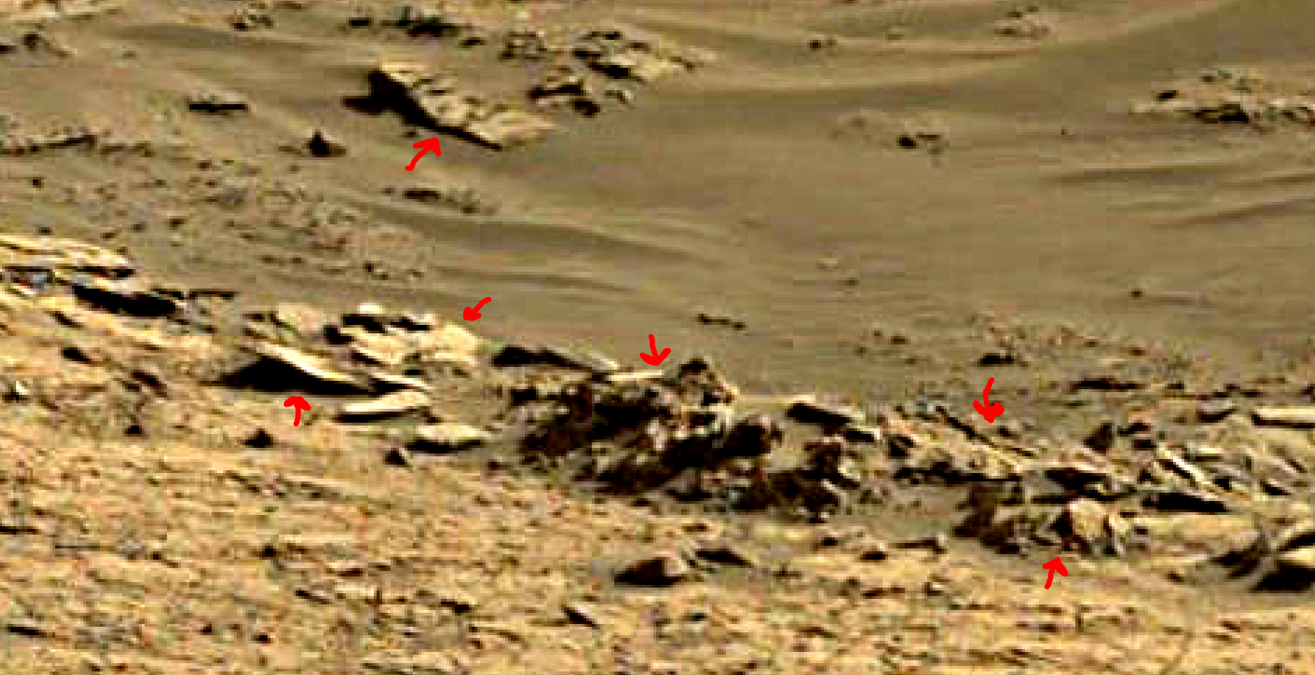 mars sol 1376 anomaly-artifacts 6a was life on mars