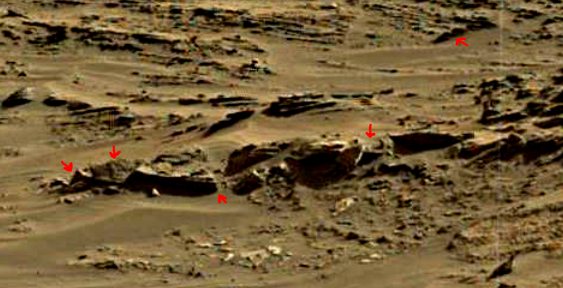 mars sol 1376 anomaly-artifacts 7a was life on mars