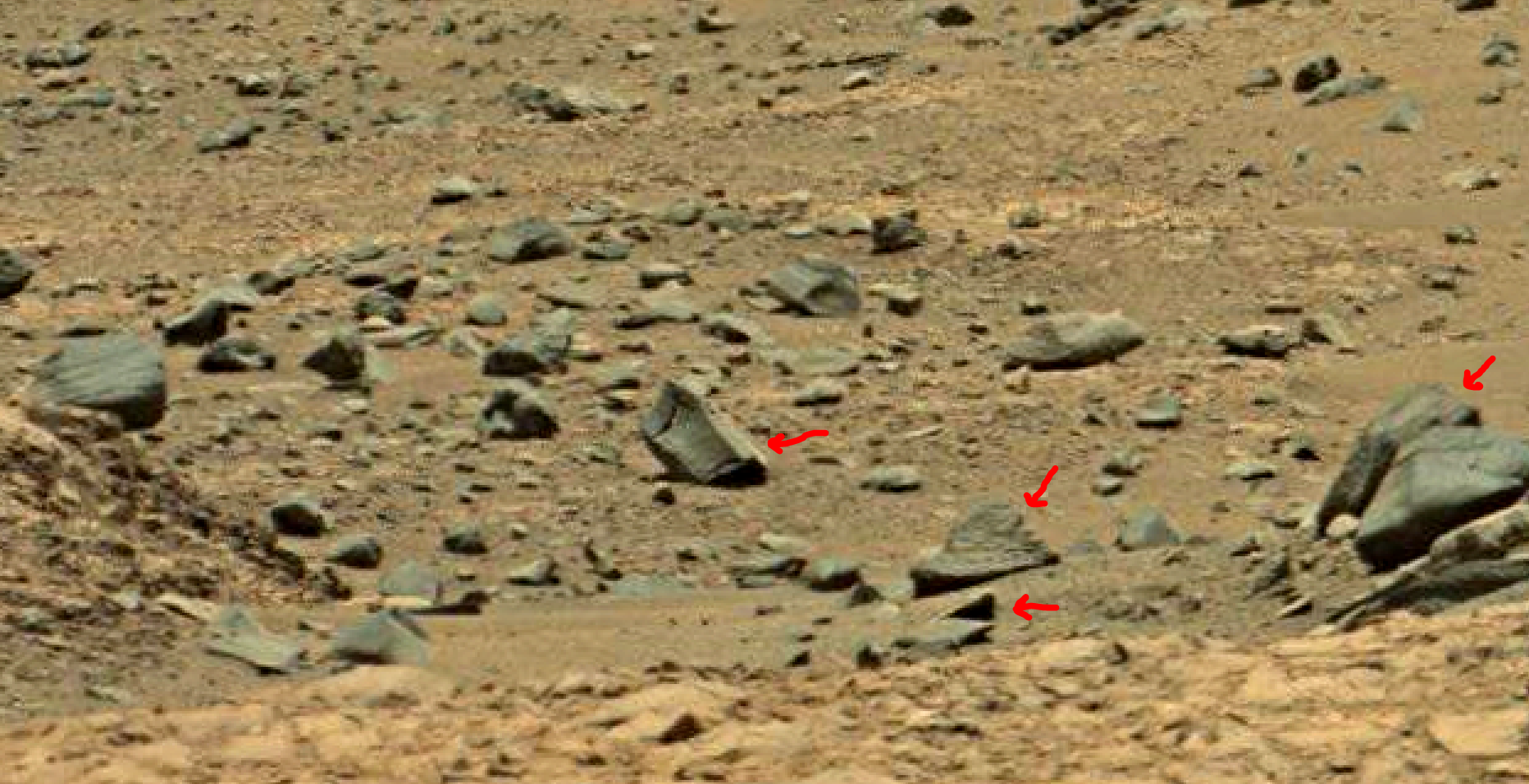 mars sol 1378 anomaly-artifacts 4a was life on mars