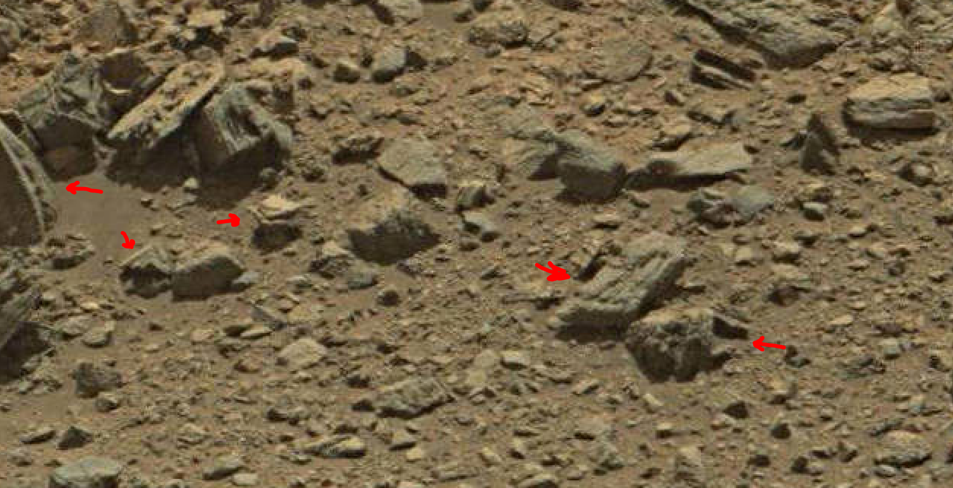 mars sol 1378 anomaly-artifacts 8 was life on mars
