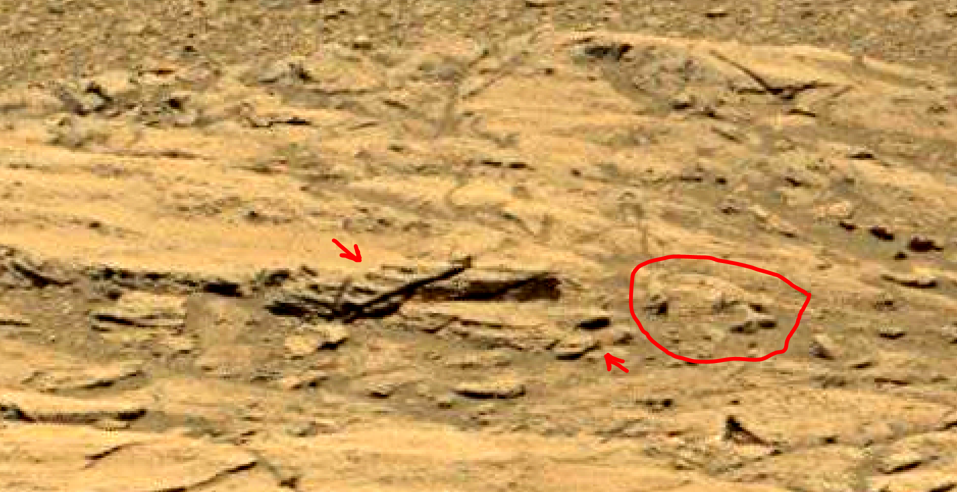 mars sol 1398 anomaly-artifacts 3 was life on mars