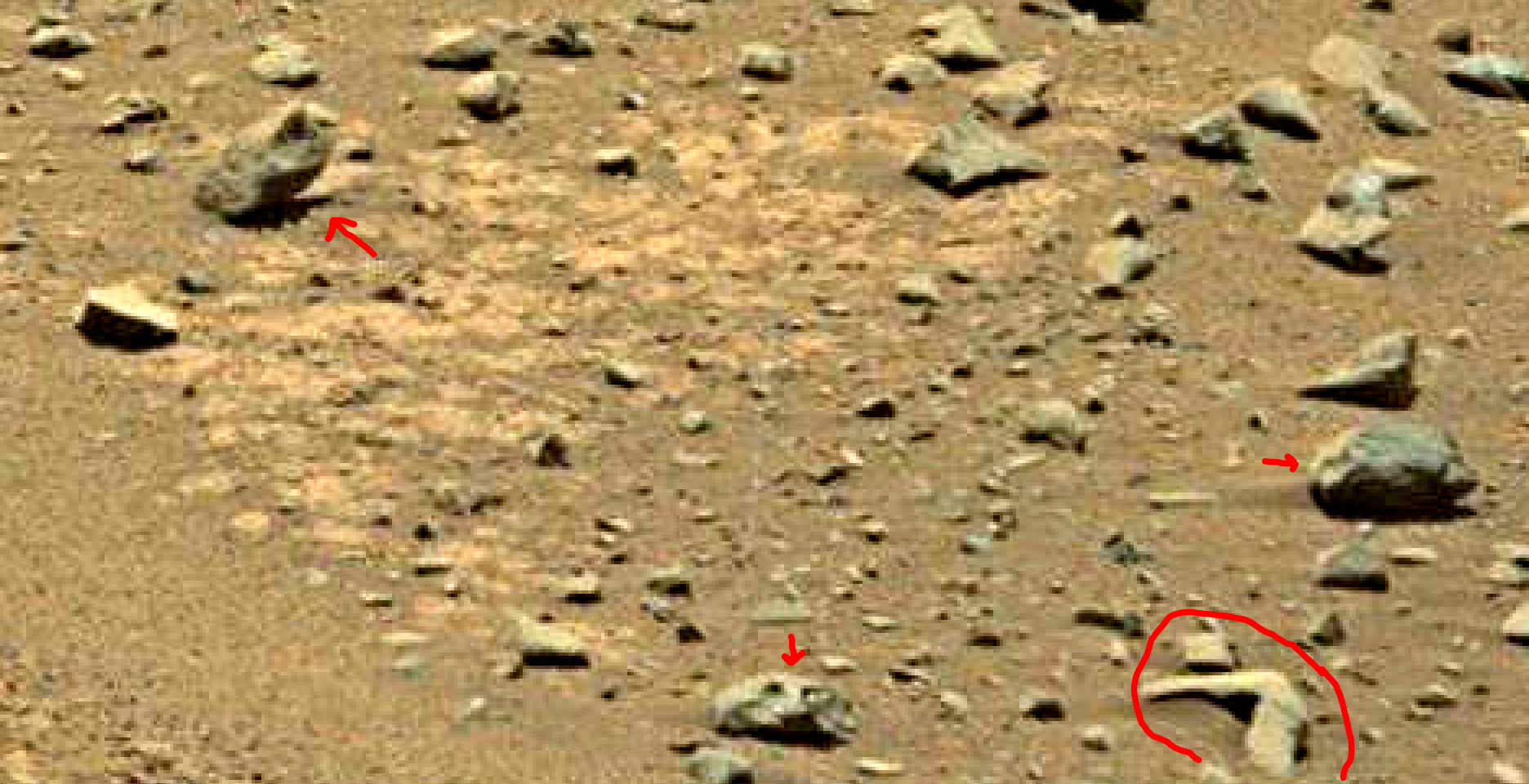 mars sol 1399 anomaly artifacts 7a was life on mars