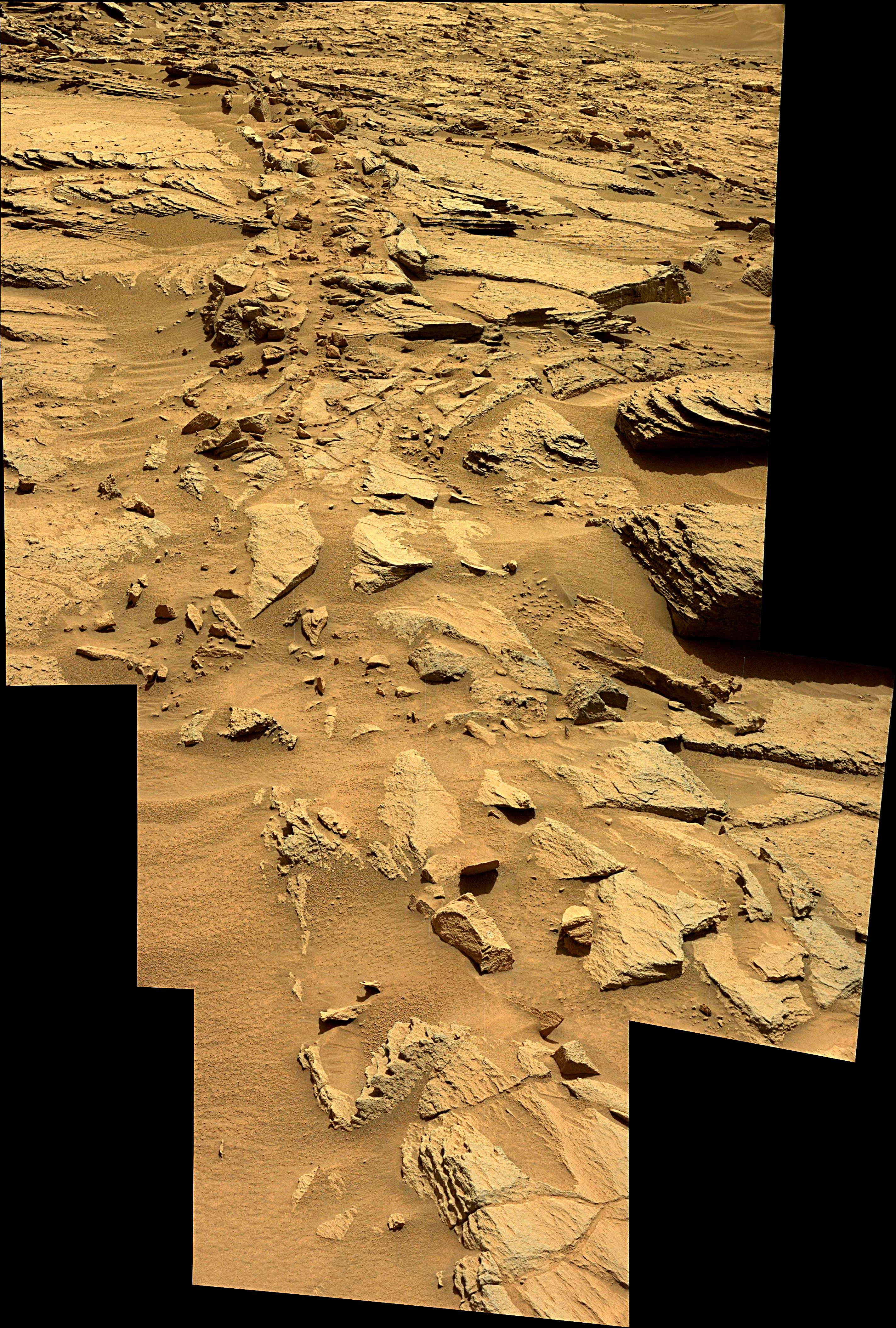 panoramic curiosity rover view 1 enhanced - sol 1373 - was life on mars