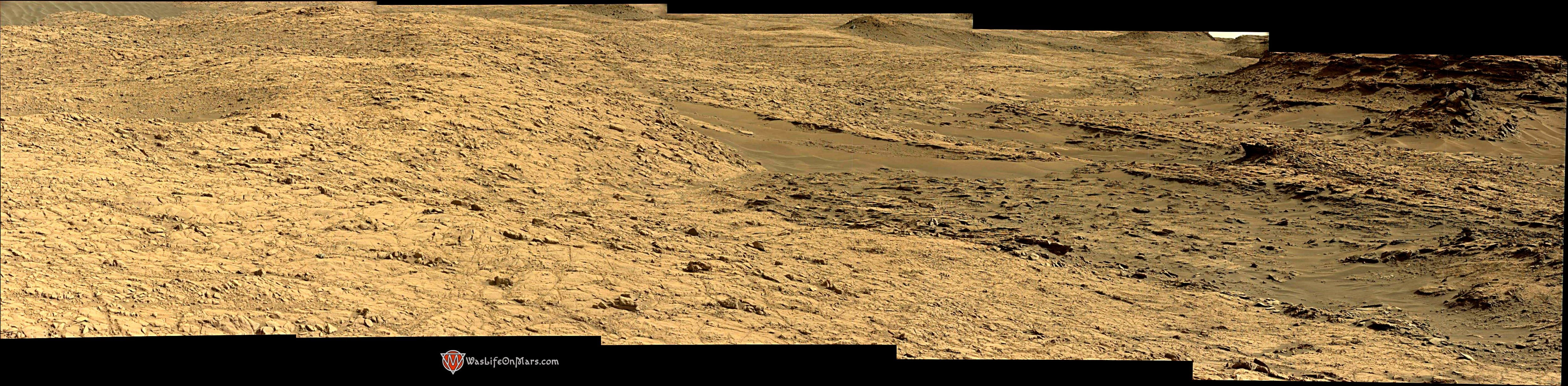 Curiosity Rover Composite View 1 of Mars Sol 1376 – Click to enlarge