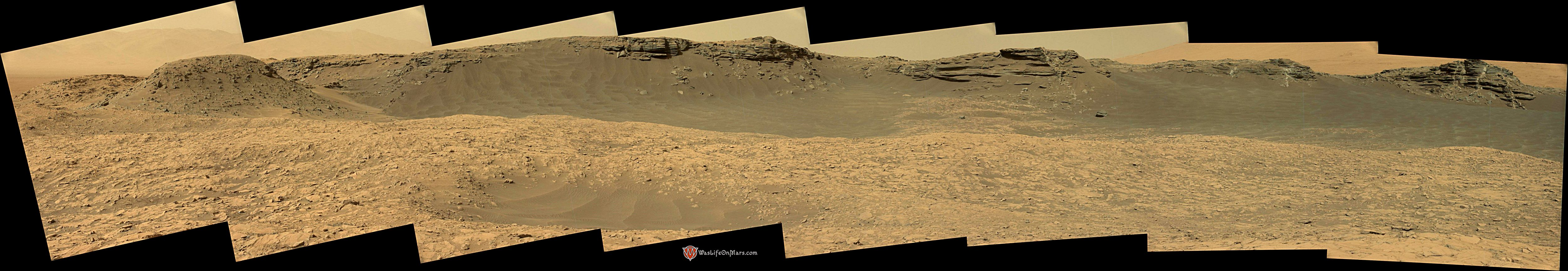 Curiosity Rover Composite View 1e of Mars Sol 1381 – Click to enlarge