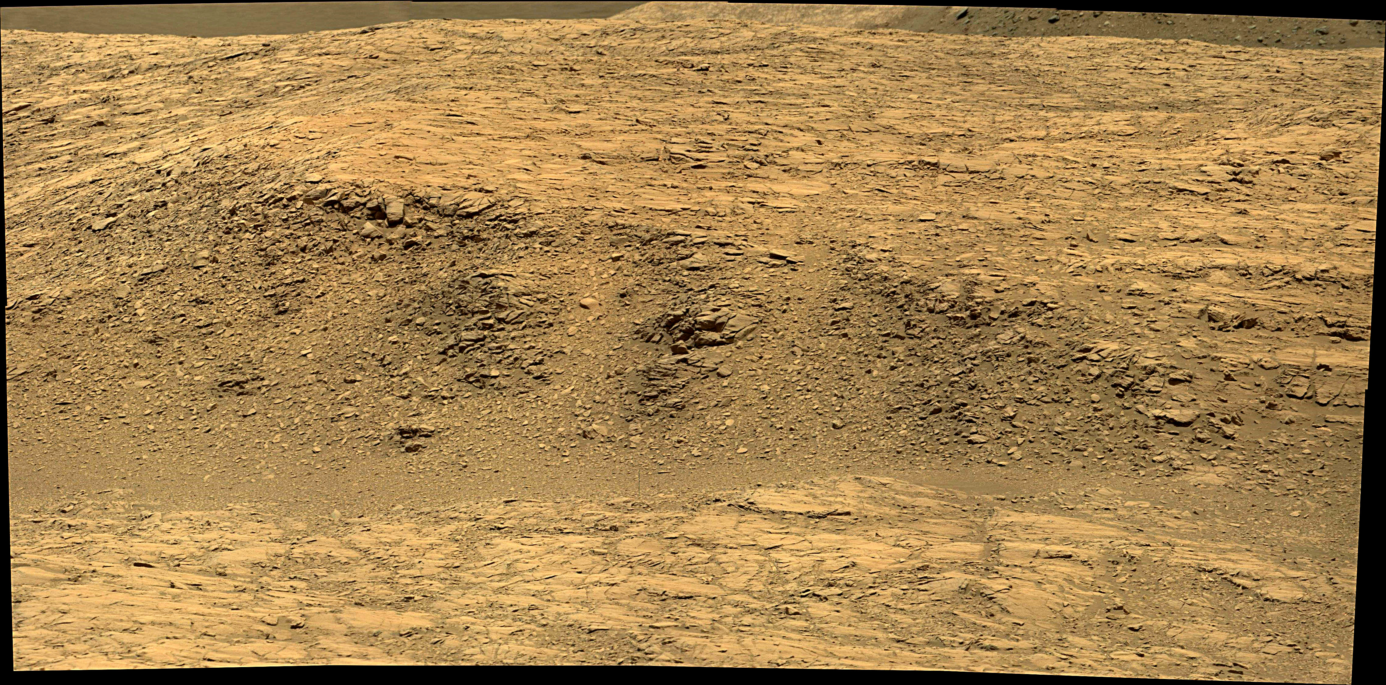 Curiosity Rover Composite View 1e of Mars Sol 1398 – Click to enlarge