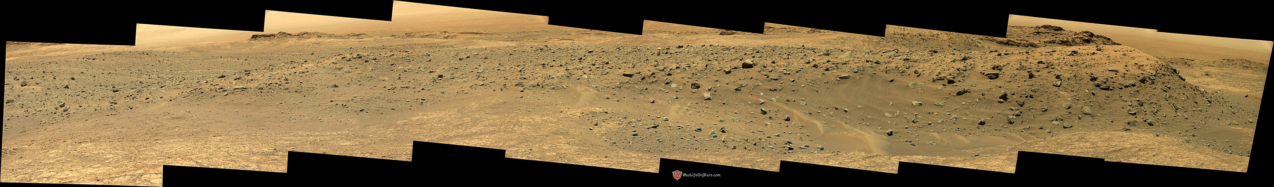 panoramic curiosity rover view 2e - sol 1399 - was life on mars