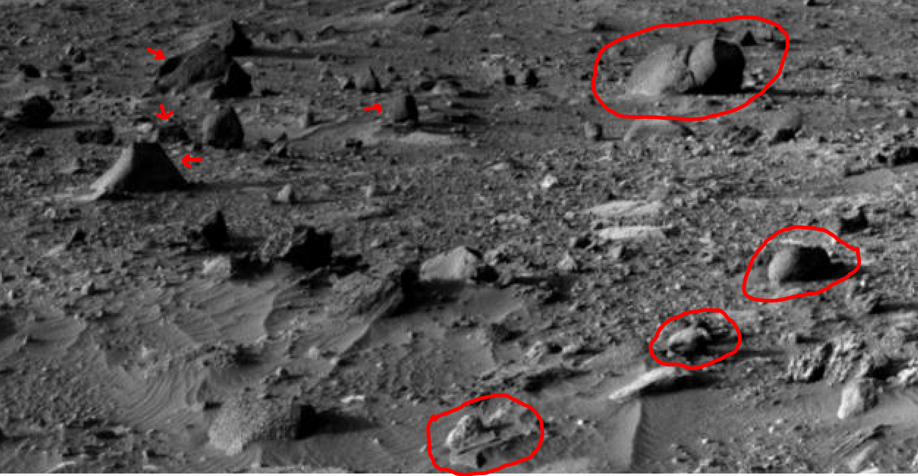 mars sol 1405 anomaly artifacts 14a was life on mars