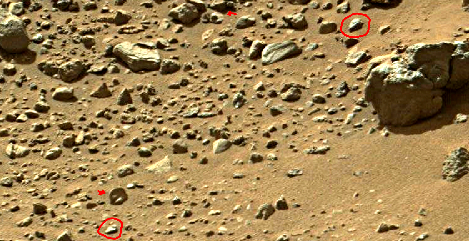 mars sol 1405 anomaly artifacts 8a was life on mars