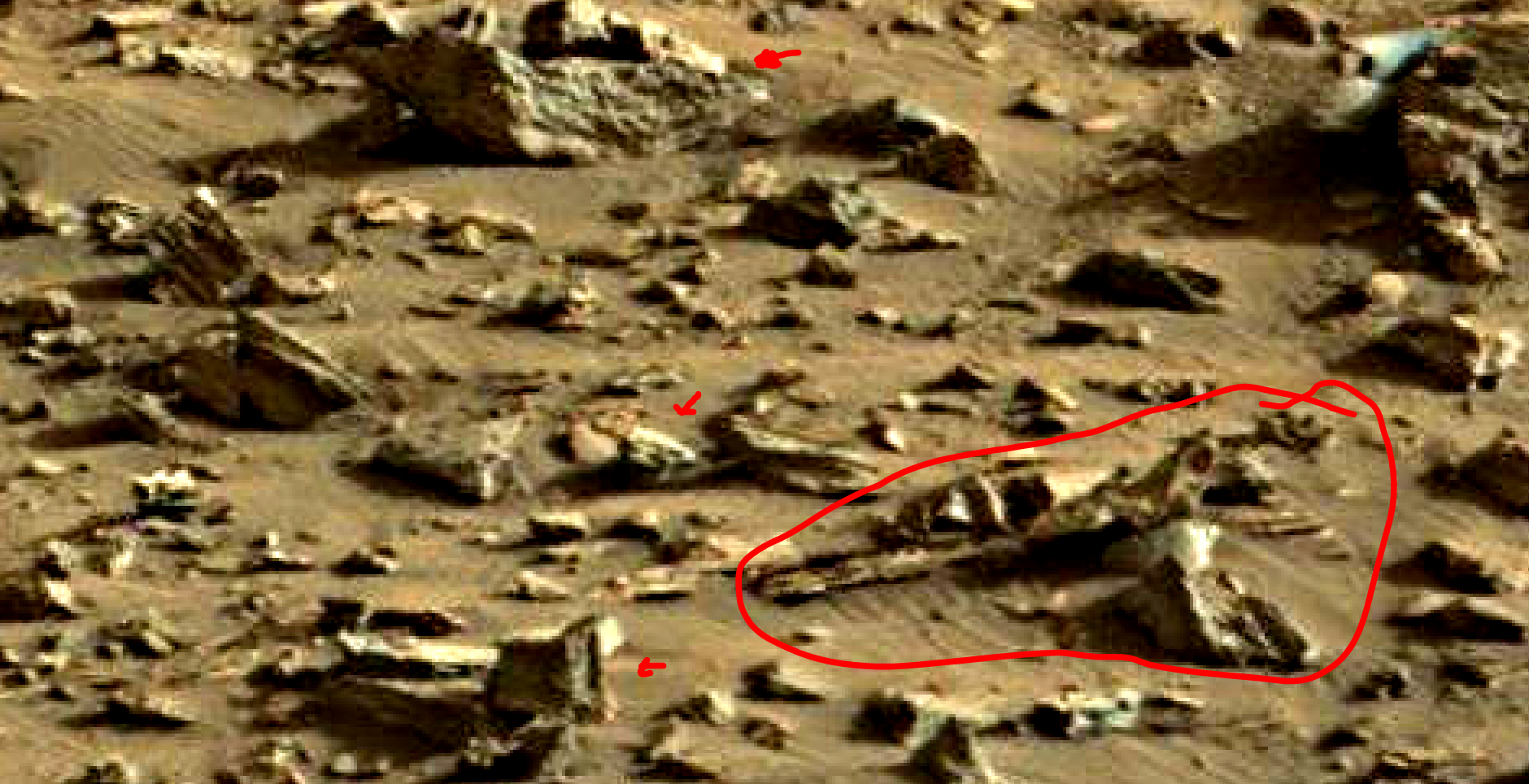 mars sol 1419 anomaly artifacts 14a was life on mars