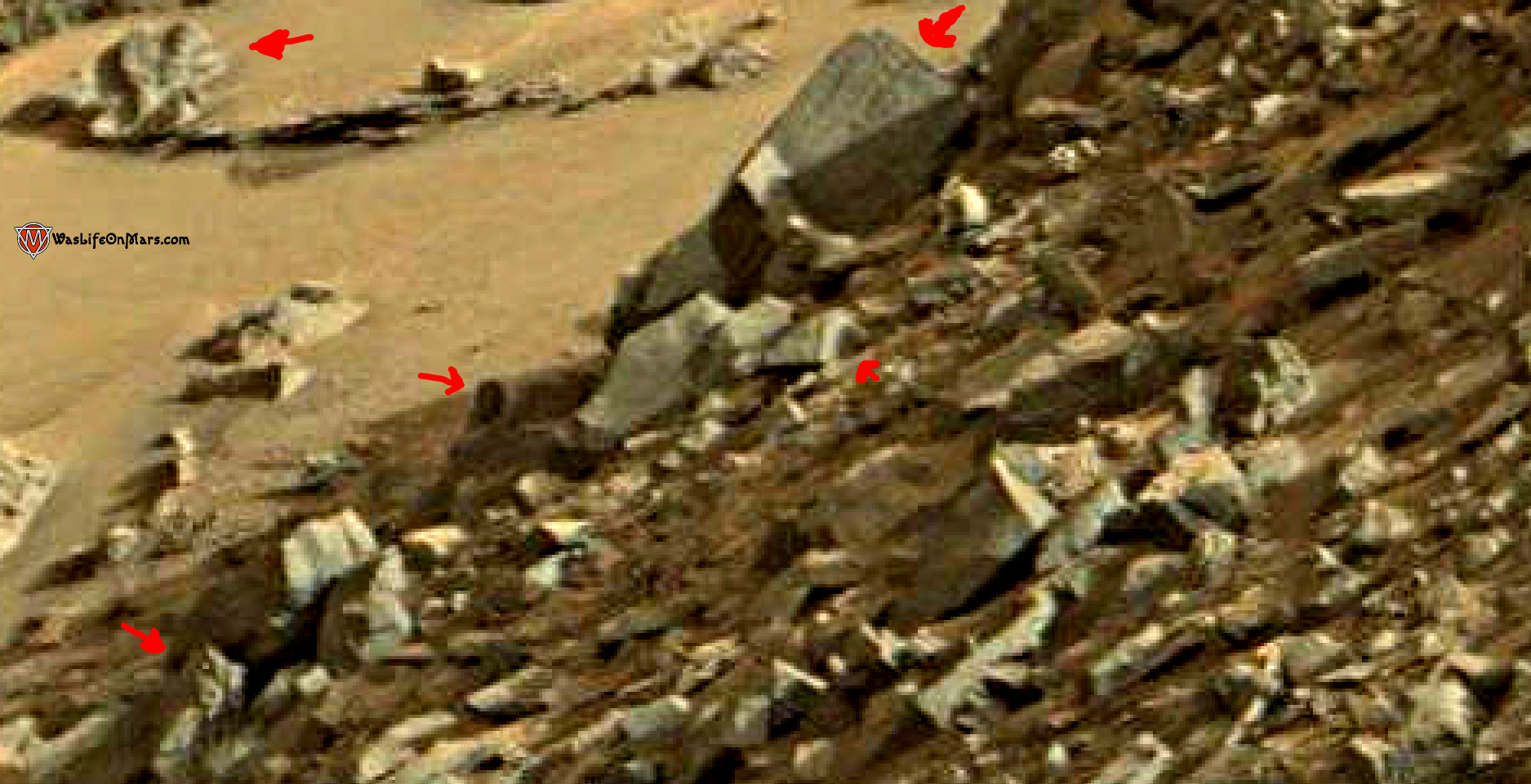 mars sol 1419 anomaly artifacts 19a was life on mars