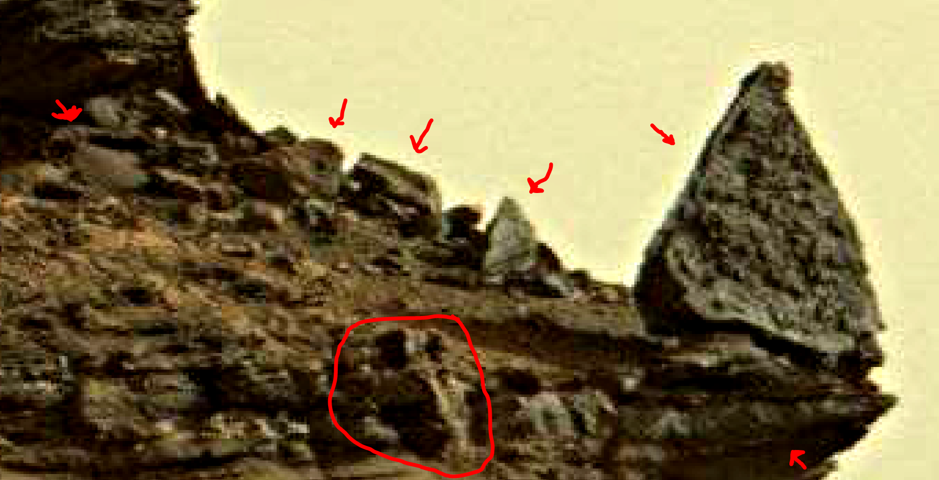 mars sol 1419 anomaly artifacts 2-a was life on mars