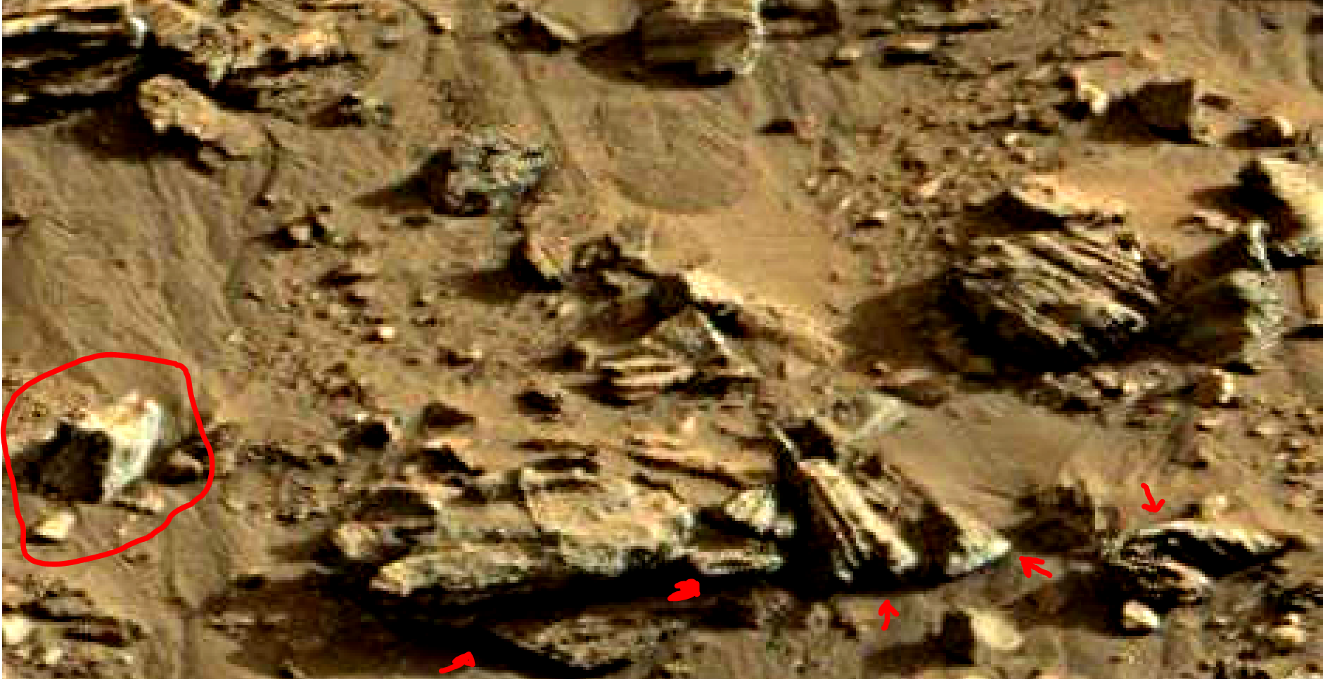 mars sol 1419 anomaly artifacts 8 was life on mars