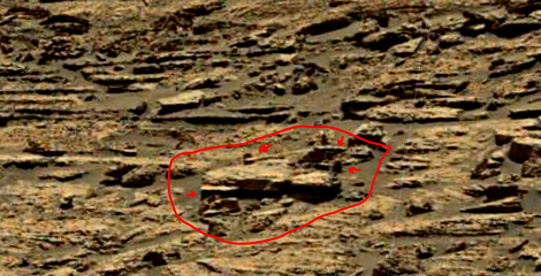 mars sol 1428 anomaly artifacts 6a was life on mars