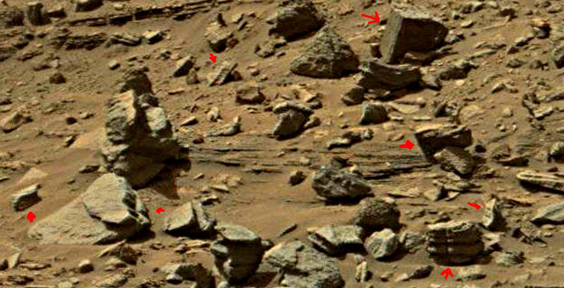 mars sol 1429 anomaly artifacts 1-2a was life on mars