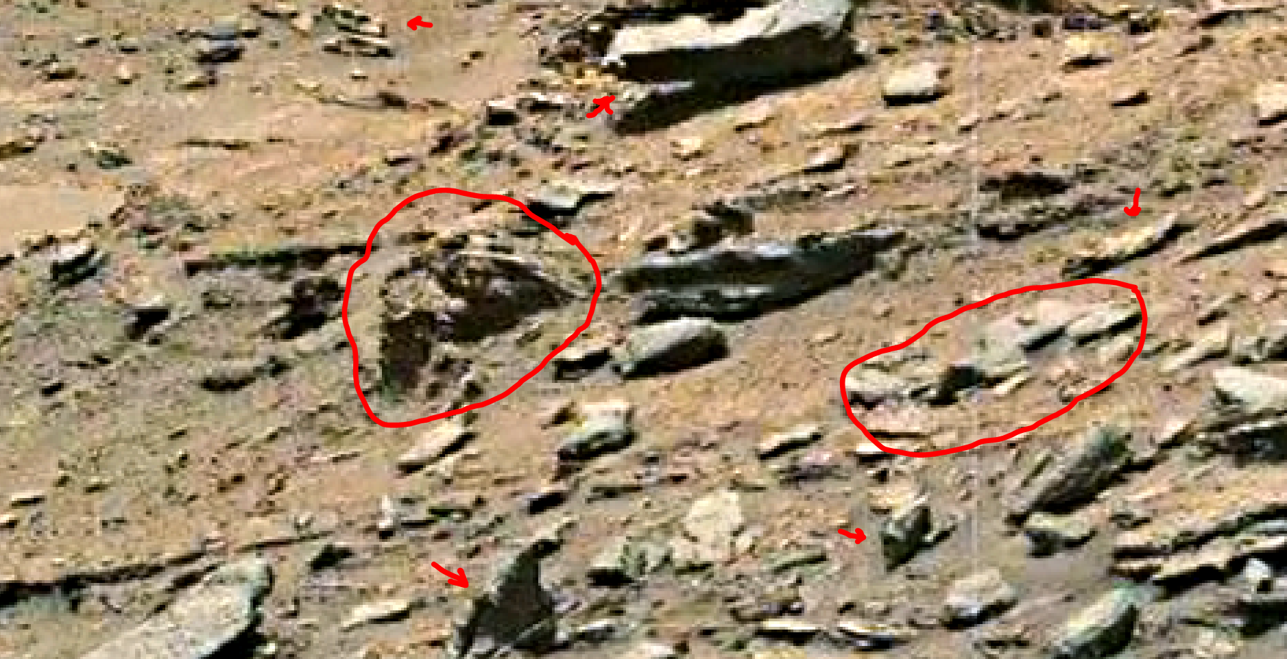 mars sol 1432 b&w anomaly artifacts 12 was life on mars