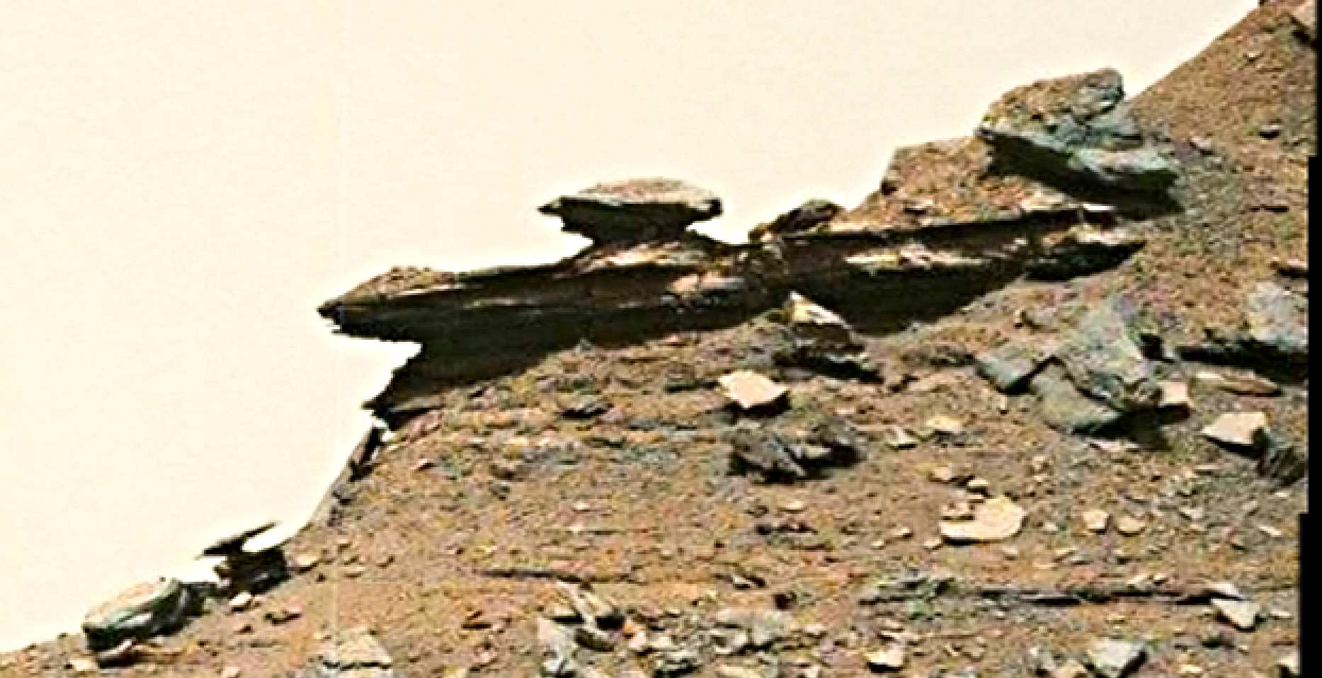 mars sol 1432 b&w anomaly artifacts 13 was life on mars