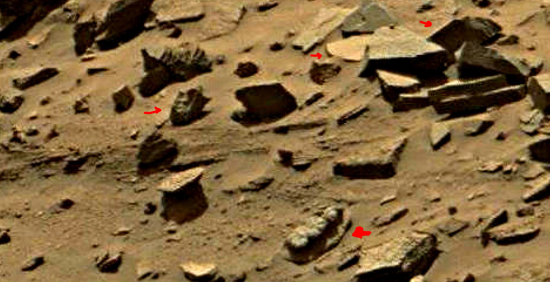 mars sol 1434 anomaly artifacts 10 was life on mars