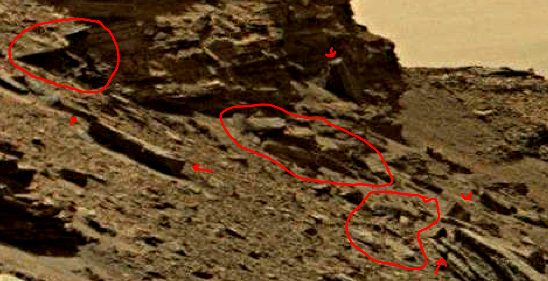 mars sol 1434 anomaly artifacts 3a was life on mars