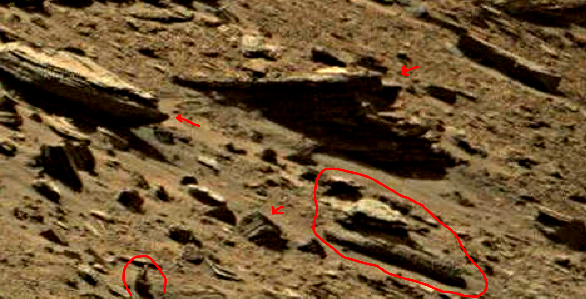 mars sol 1434 anomaly artifacts 4 was life on mars