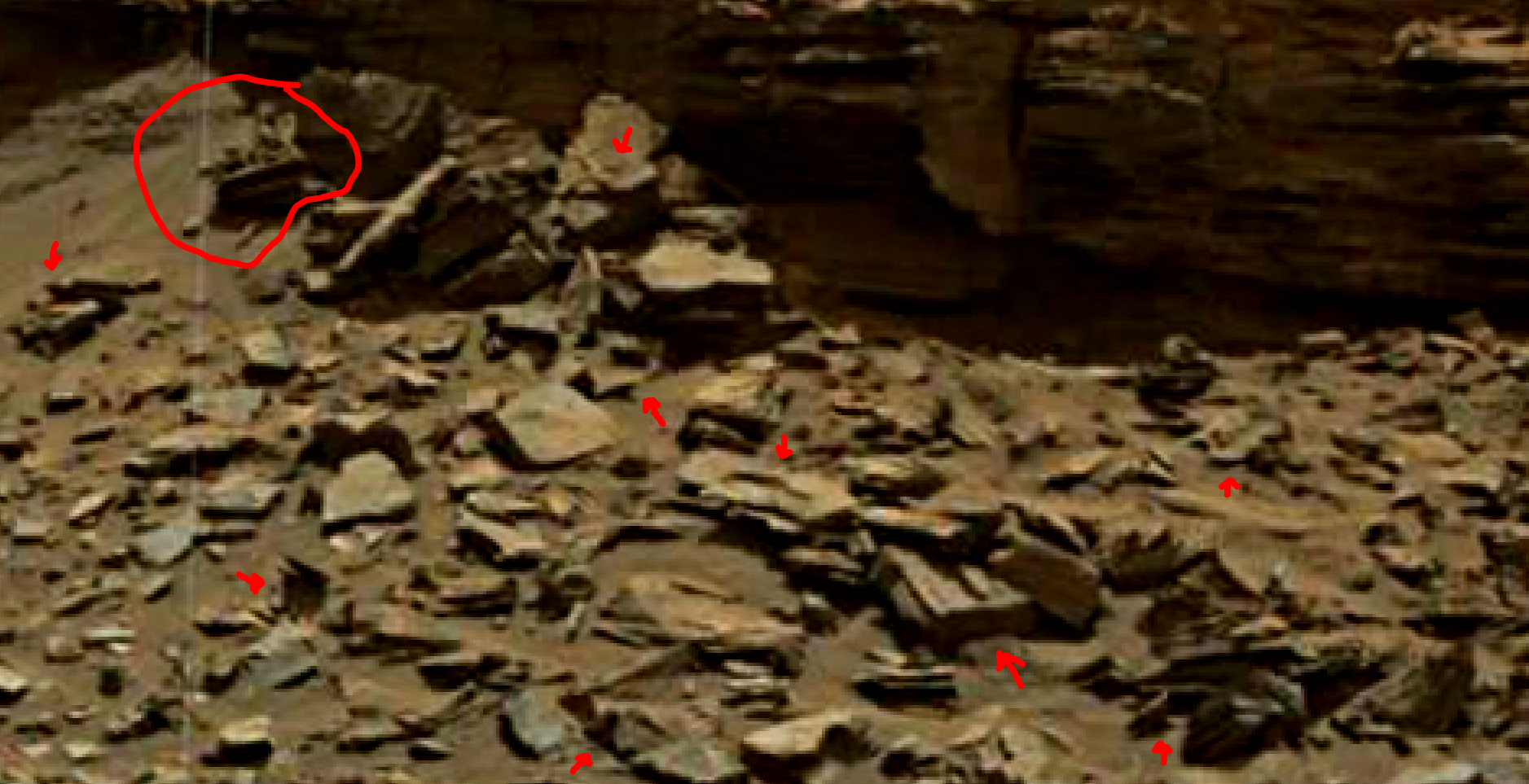 mars sol 1438 anomaly artifacts 1 was life on mars