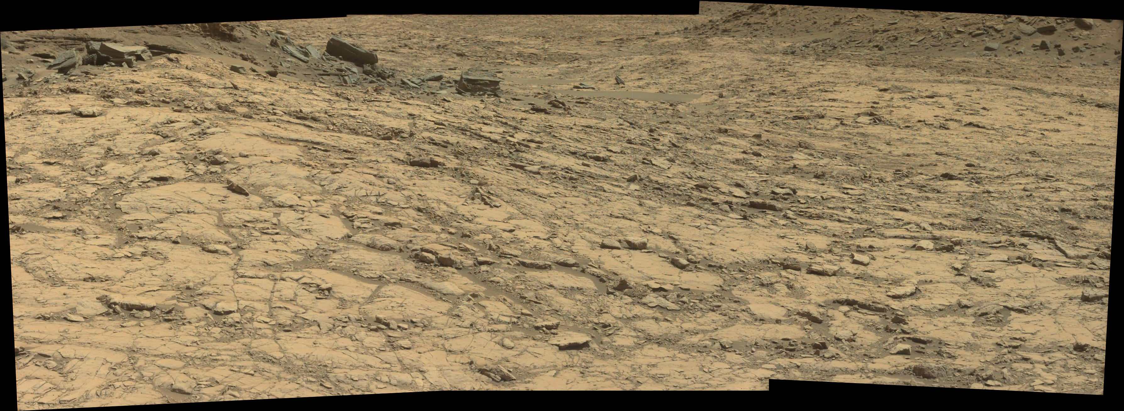 panoramic curiosity rover view 1 - sol 1428 - was life on mars