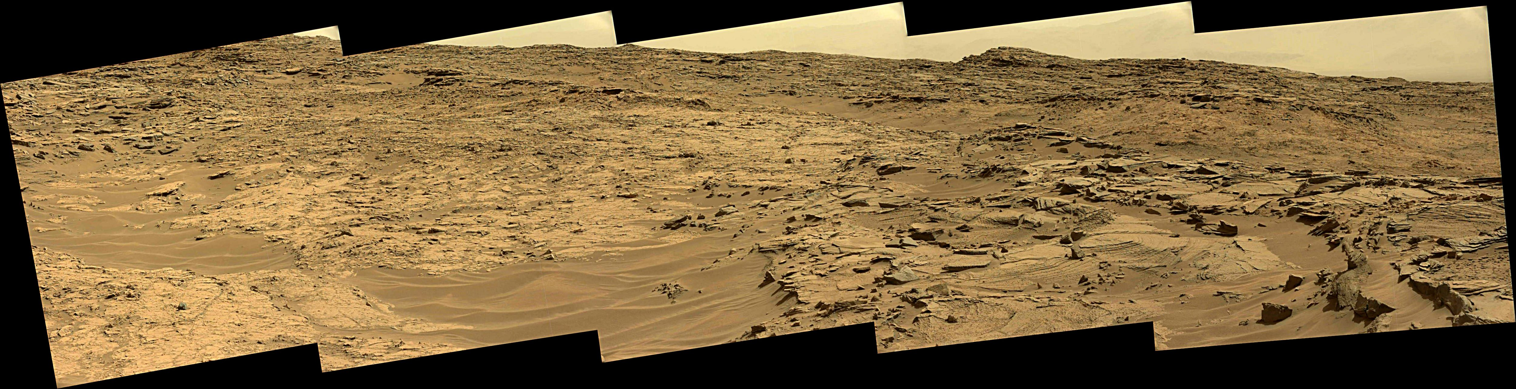 panoramic curiosity rover view 1e - sol 1352 - was life on mars