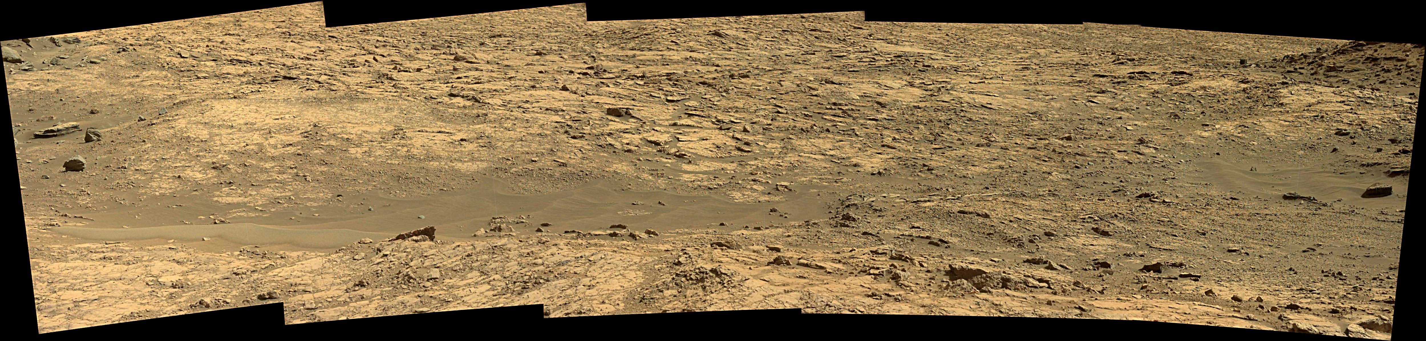 panoramic curiosity rover view 1e - sol 1431 - was life on mars