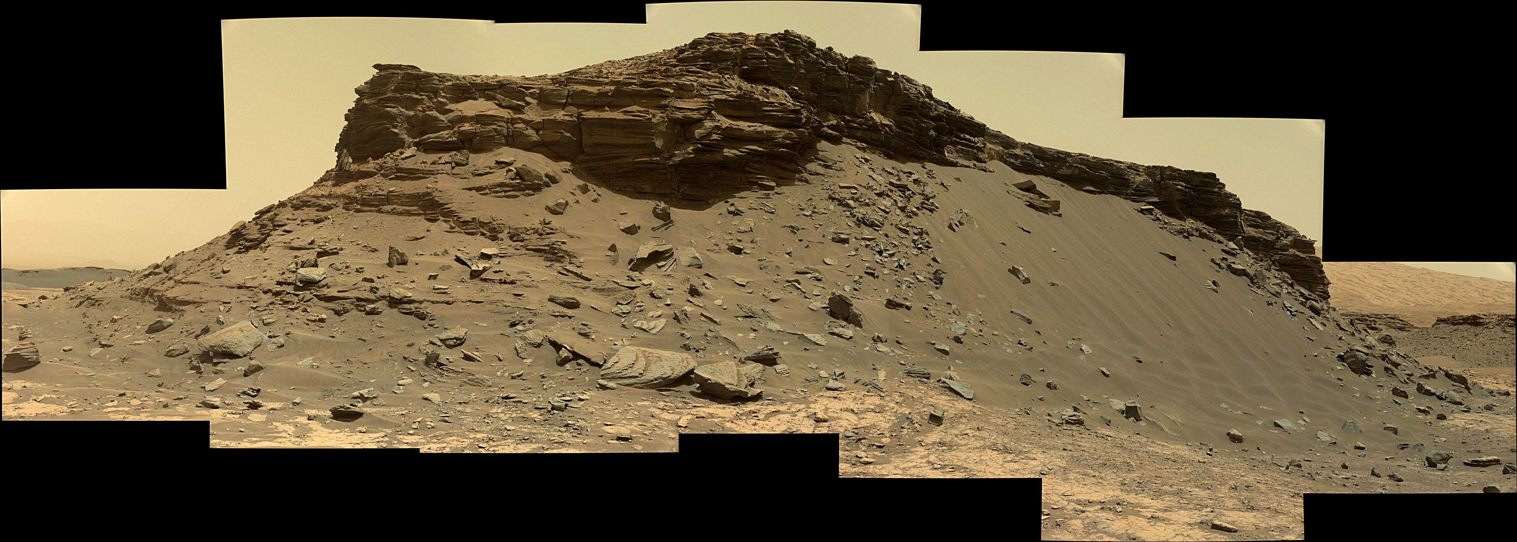 panoramic curiosity rover view 1e - sol 1432 - was life on mars