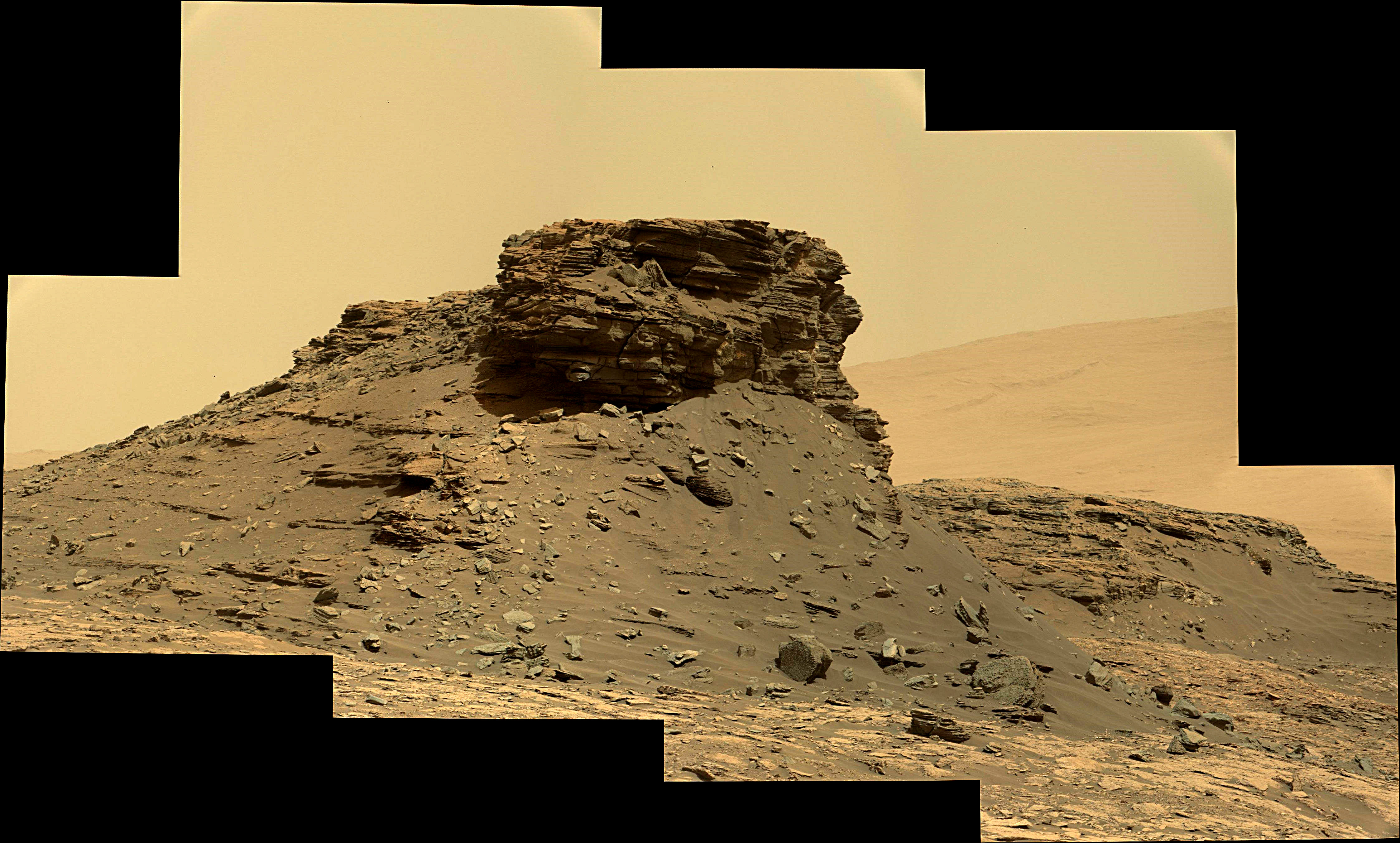 panoramic curiosity rover view 1e - sol 1436 - was life on mars