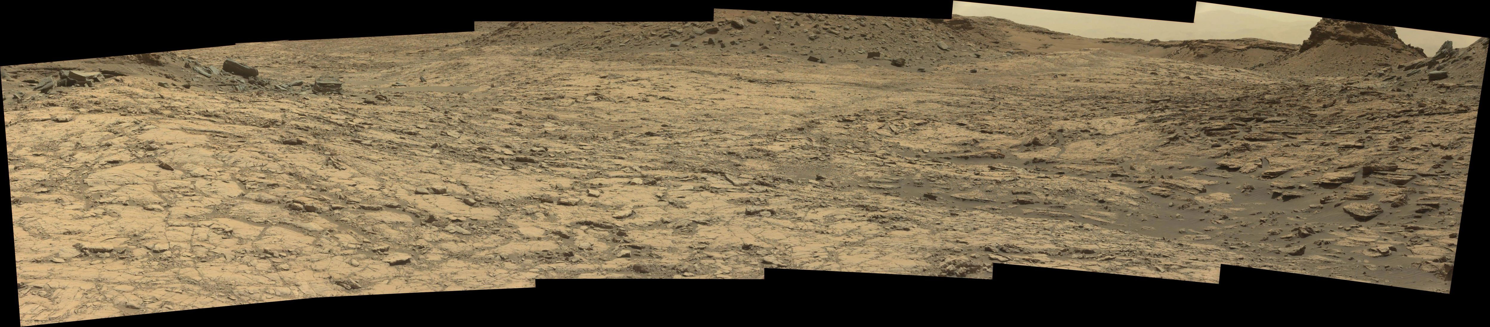panoramic curiosity rover view 2 - sol 1428 - was life on mars