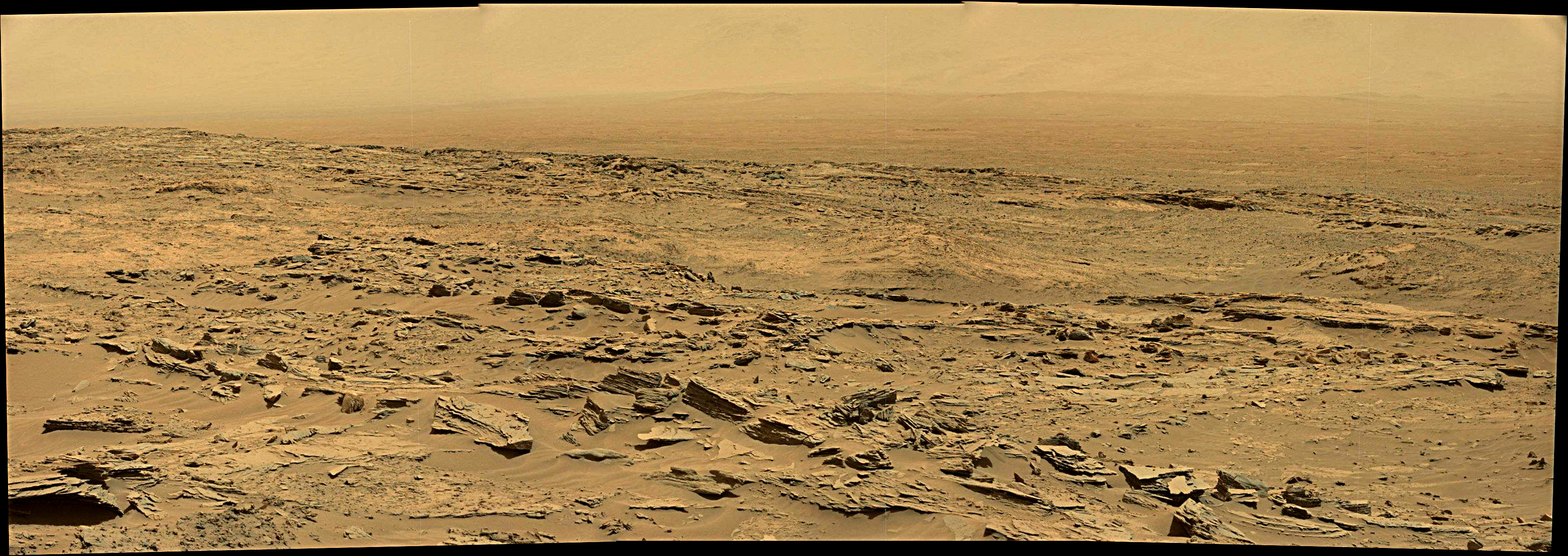 panoramic curiosity rover view 2e - sol 1352 - was life on mars