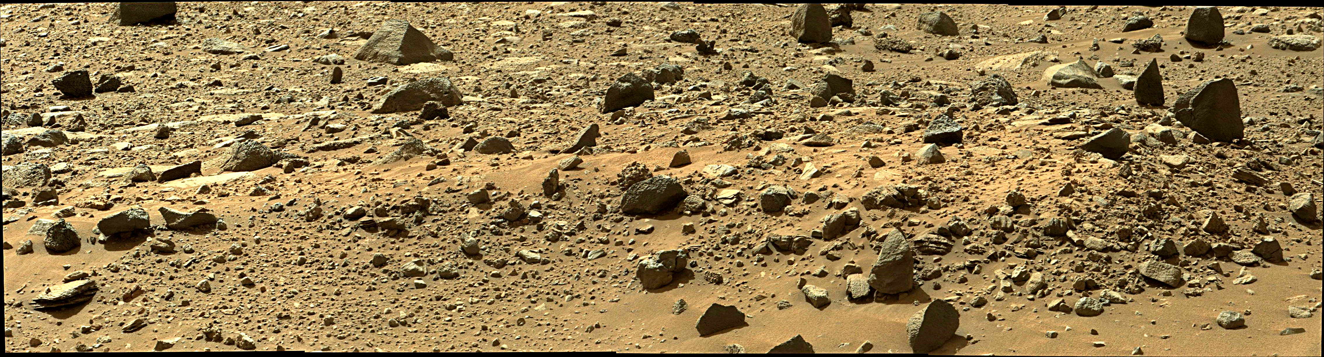 Curiosity Rover Composite View 2e of Mars Sol 1405 – Click to enlarge