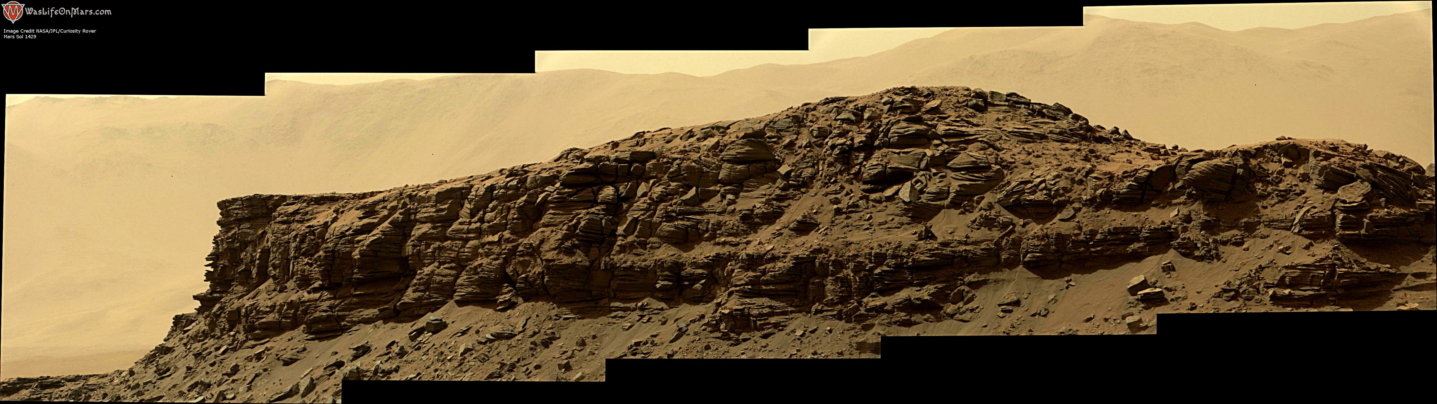 panoramic curiosity rover view 2e - sol 1429 - was life on mars