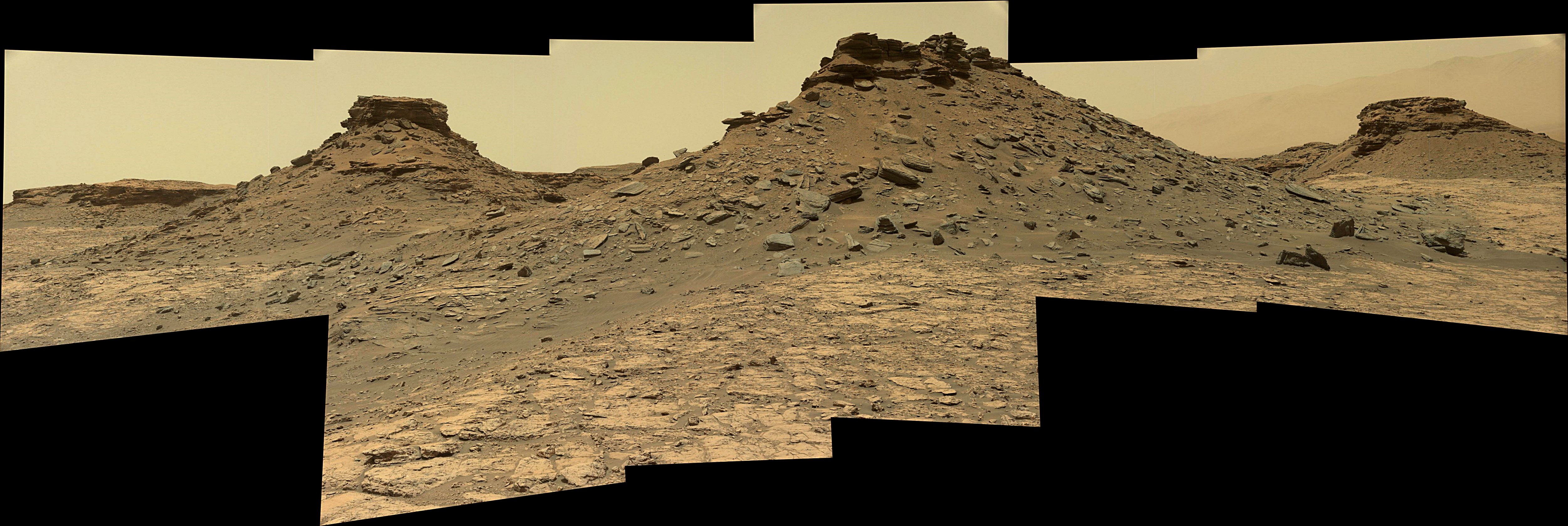 panoramic curiosity rover view 2e - sol 1432 - was life on mars