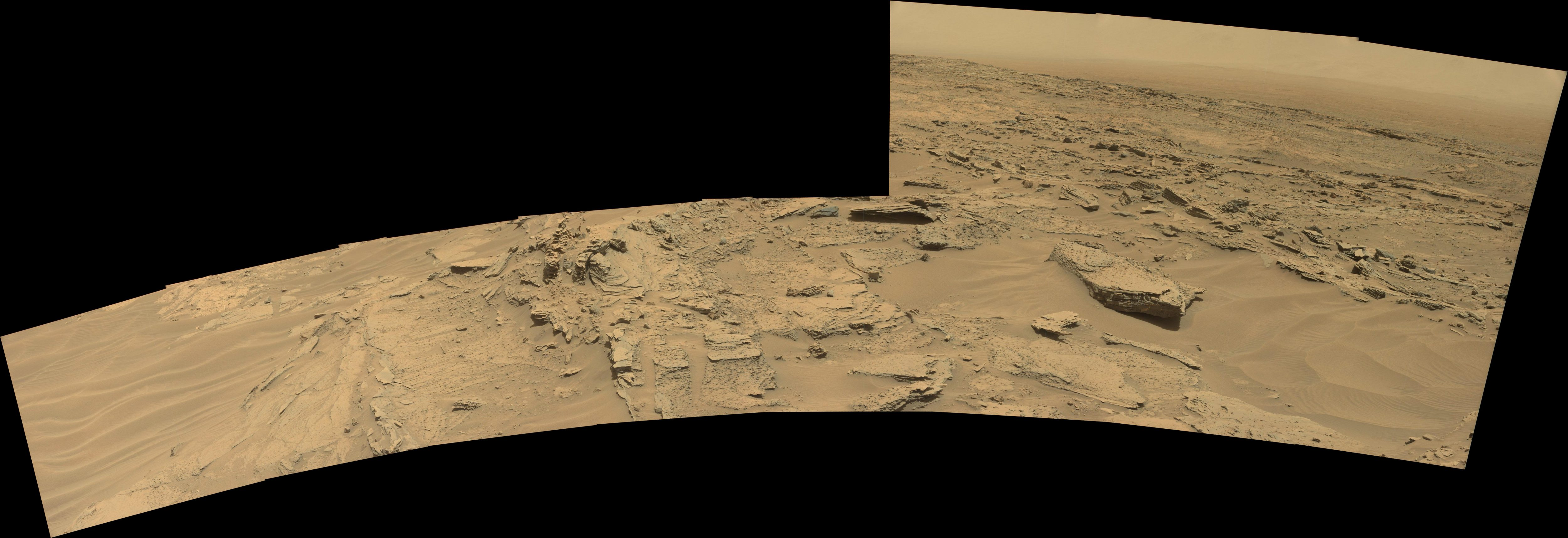 panoramic curiosity rover view 3 - sol 1352 - was life on mars