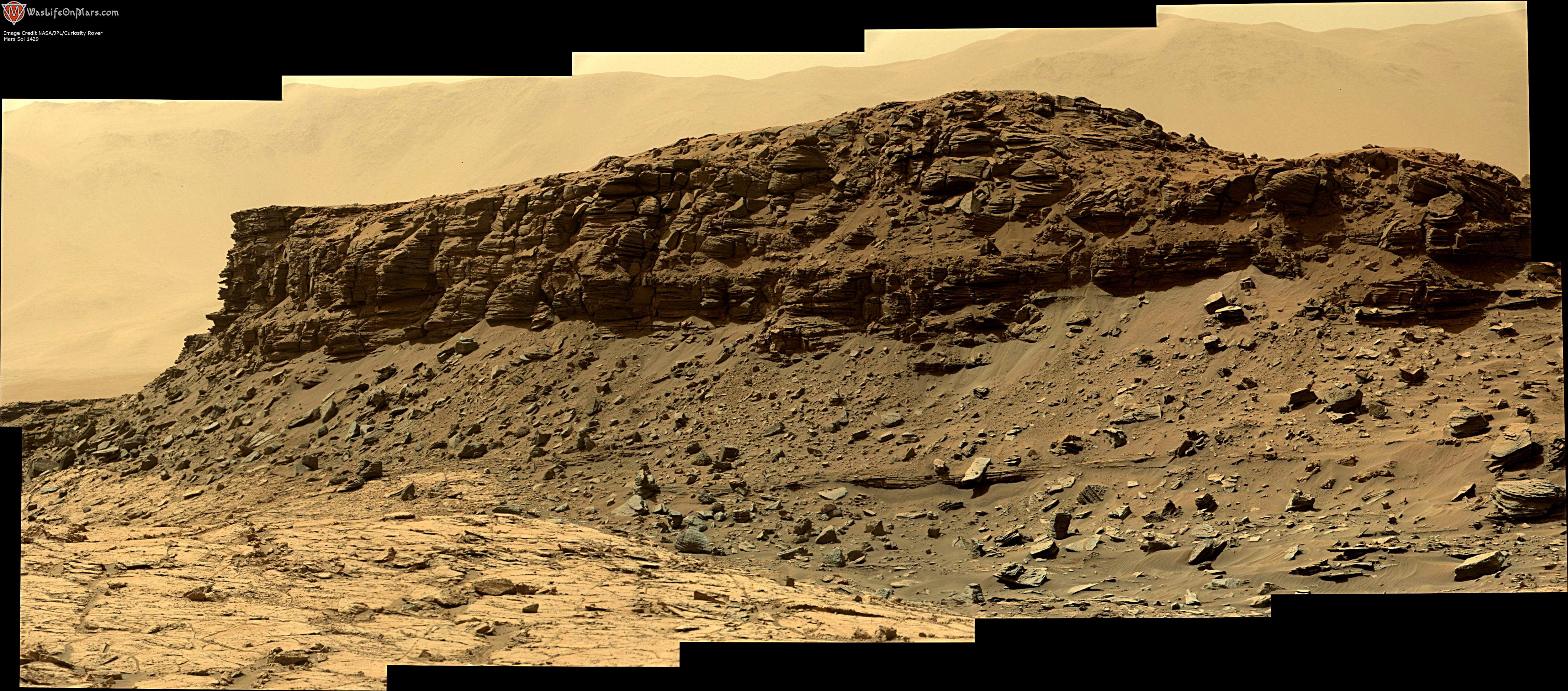 panoramic curiosity rover view 3e - sol 1429 - was life on mars