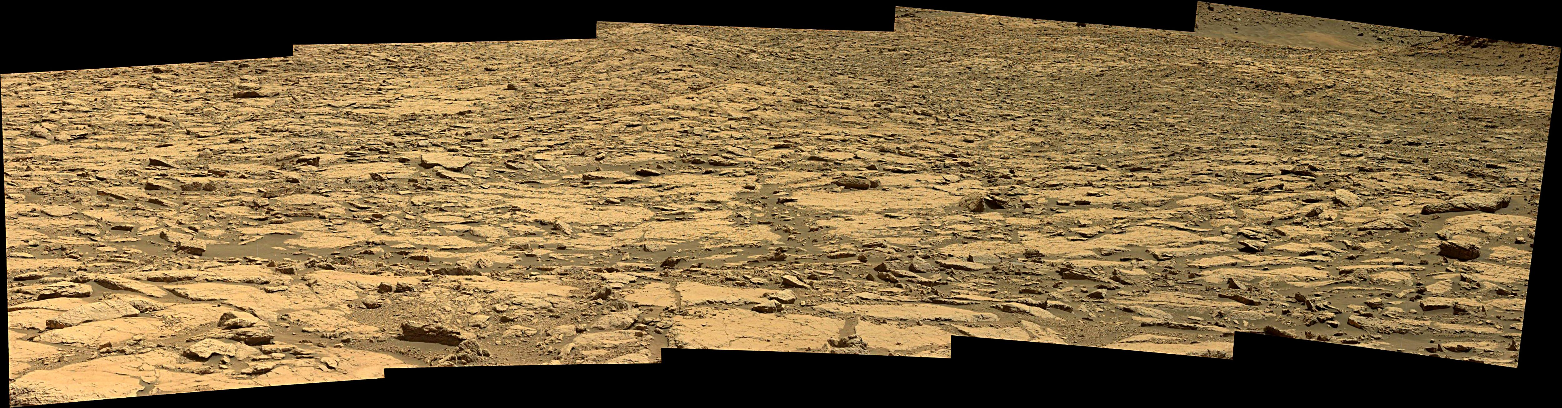 panoramic curiosity rover view 3e - sol 1433 - was life on mars