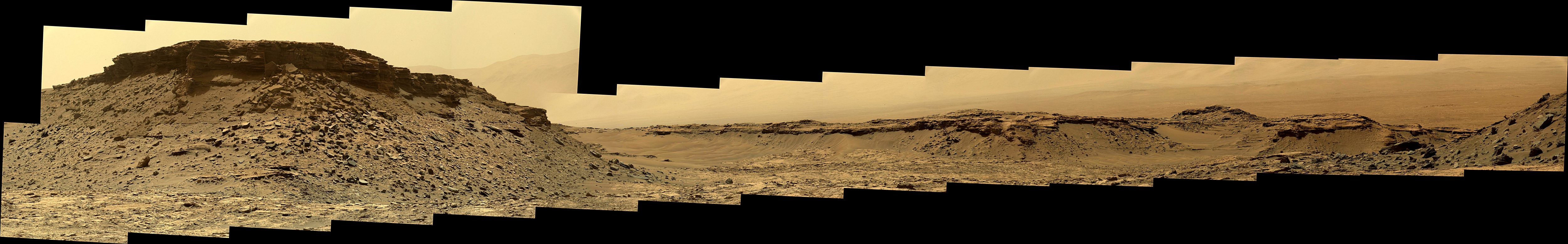 panoramic curiosity rover view 3e - sol 1434 - was life on mars