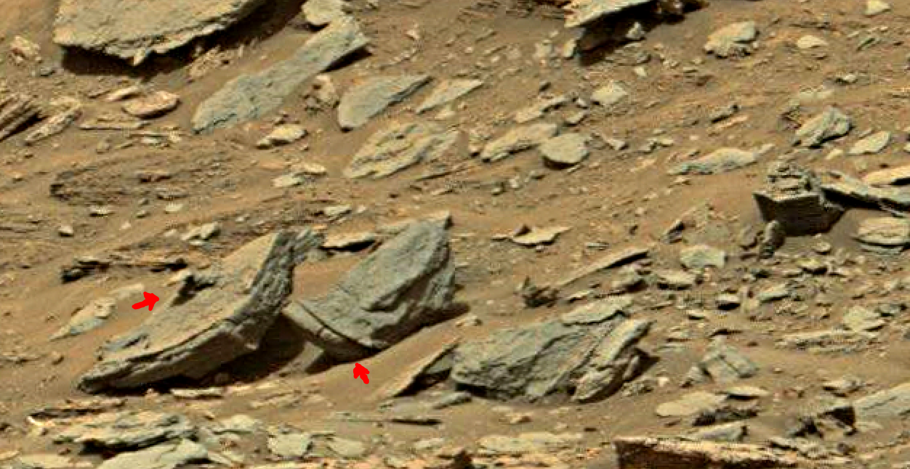 mars sol 1447 anomaly artifacts 10 - was life on mars