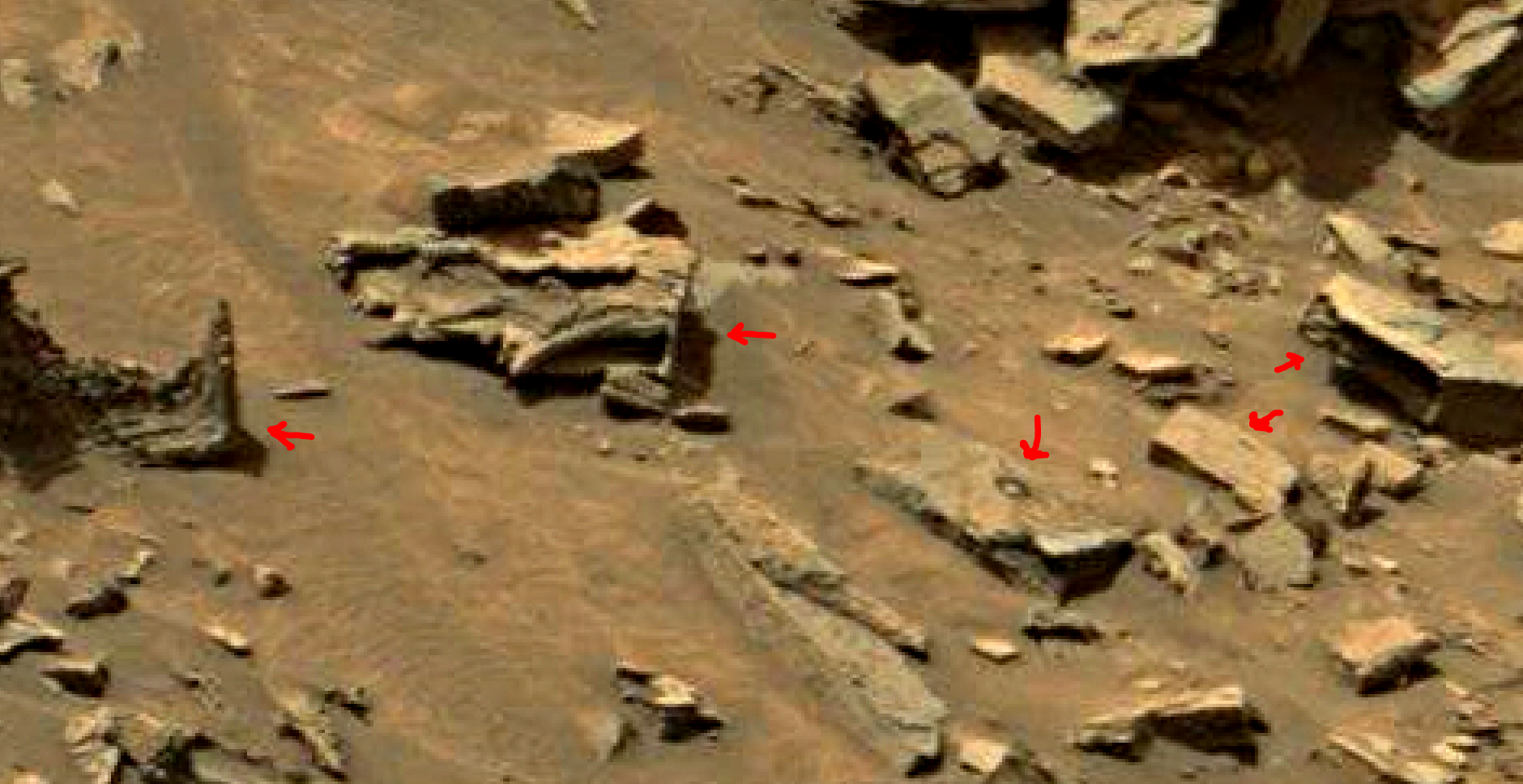 mars sol 1447 anomaly artifacts 3a - was life on mars