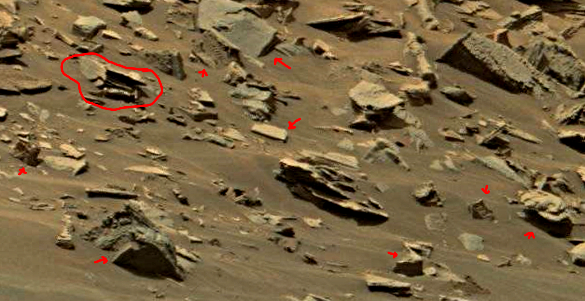 mars sol 1447 anomaly artifacts 4a - was life on mars
