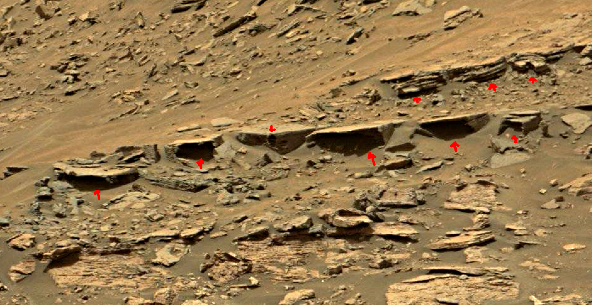 mars sol 1447 anomaly artifacts 5a - was life on mars