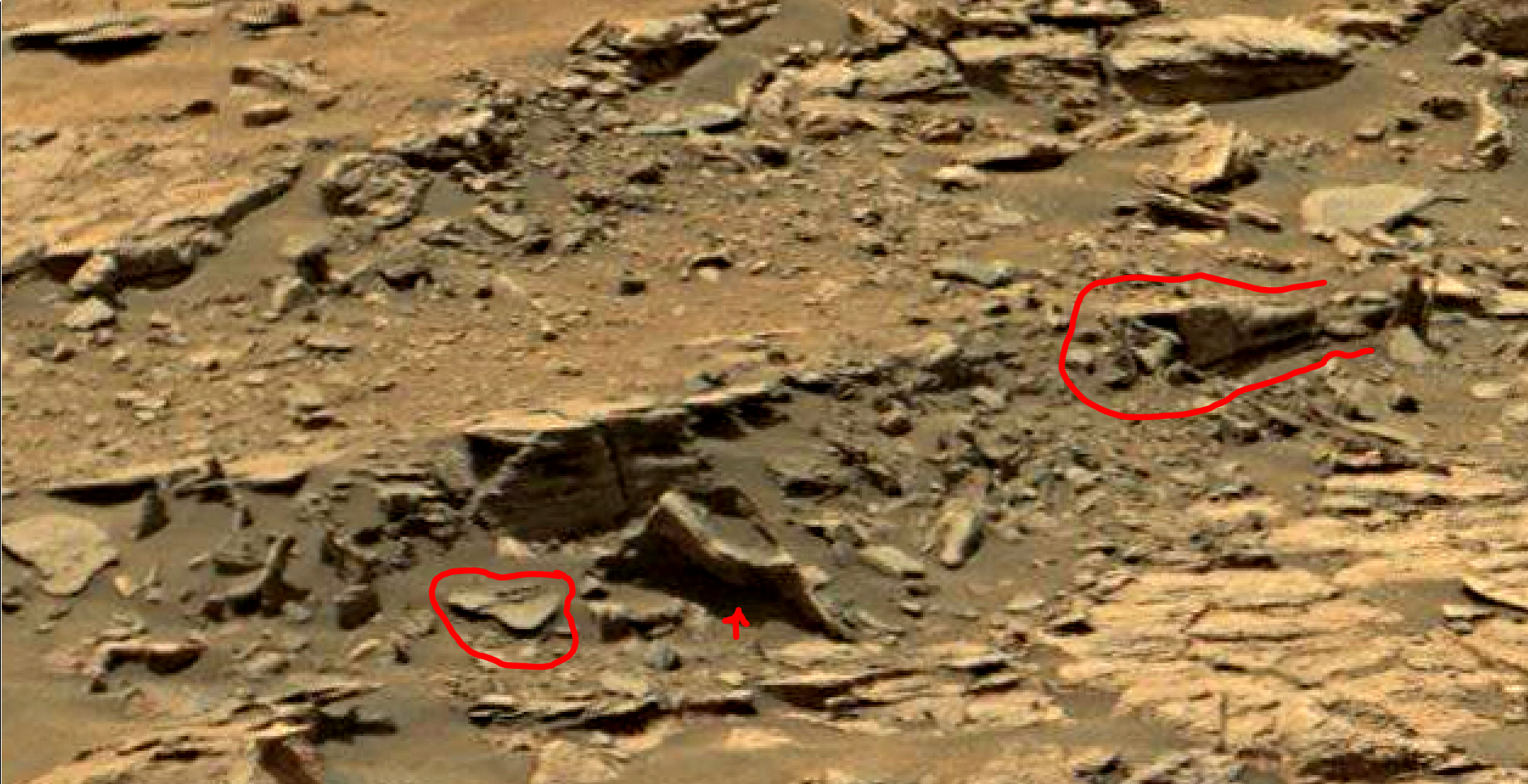 mars sol 1447 anomaly artifacts 6a - was life on mars