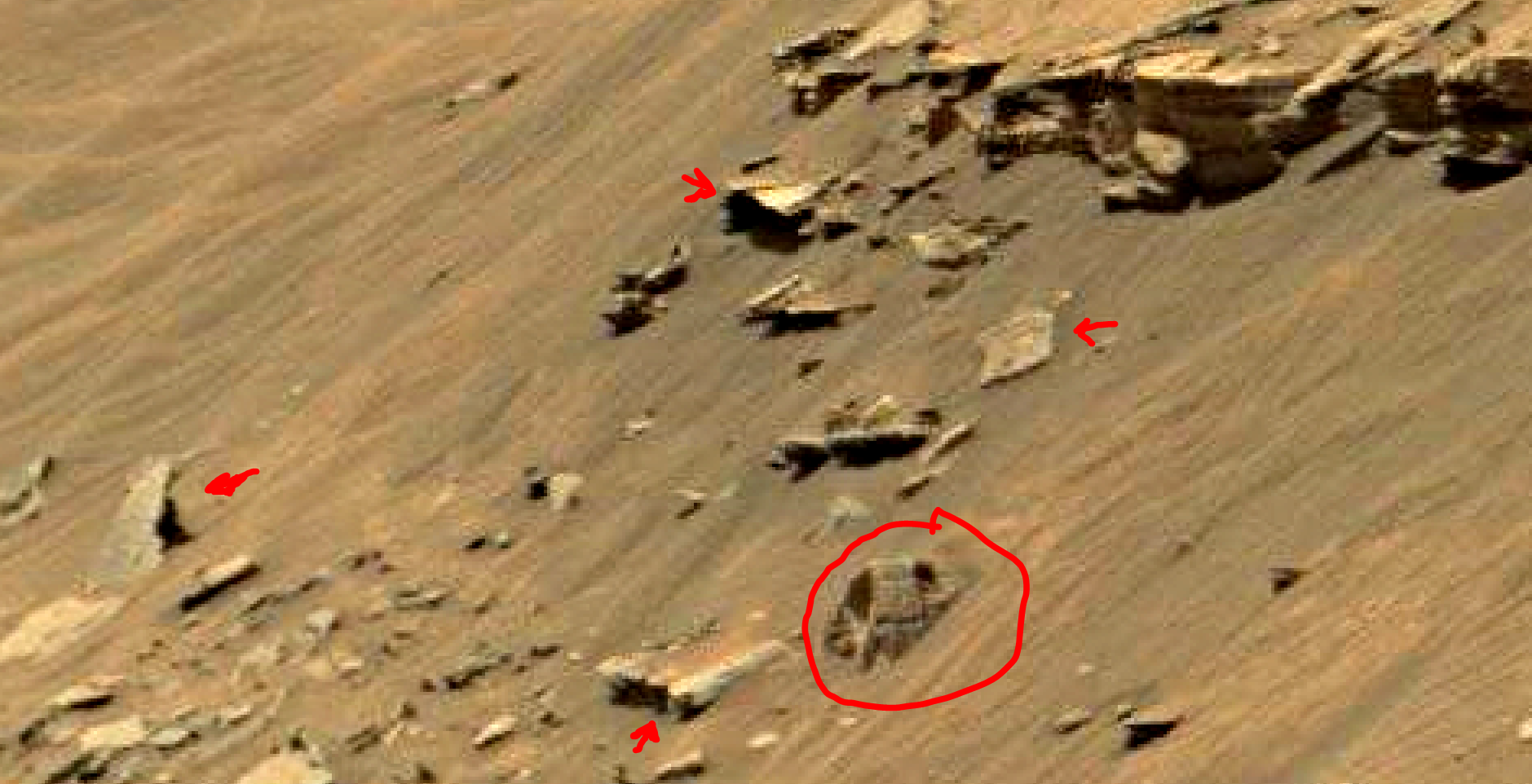 mars sol 1447 anomaly artifacts 7 - was life on mars