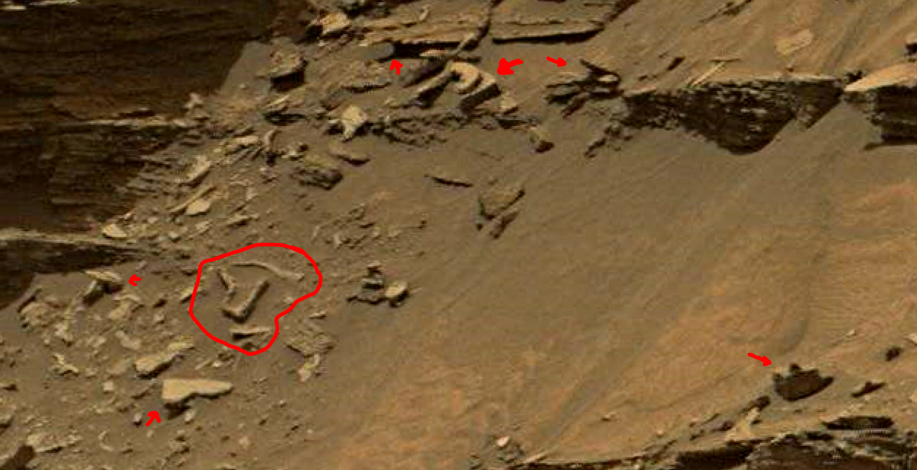 mars sol 1447 anomaly artifacts 8a - was life on mars