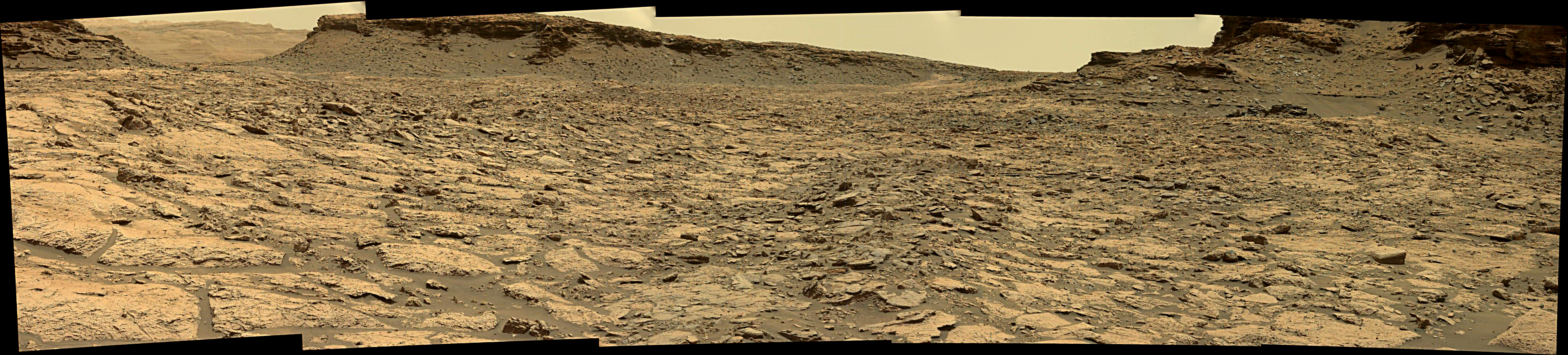 panoramic curiosity rover view 1e - sol 1438 - was life on mars